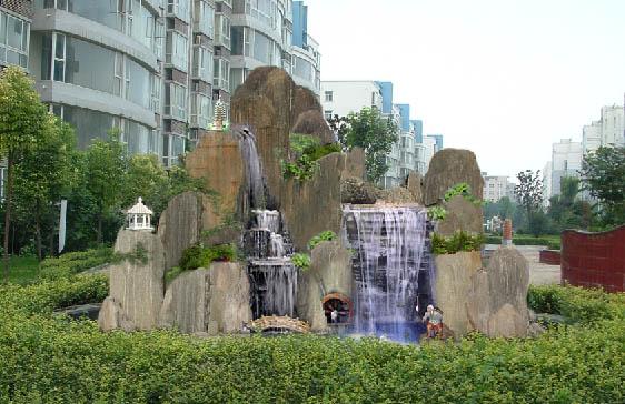 石家庄/石家庄众威景观雕塑公司定制的小区假山